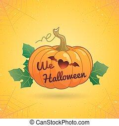 We love Halloween Pumpkin