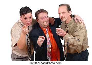 We made it! - Three slick punk-like alternative conspiring...