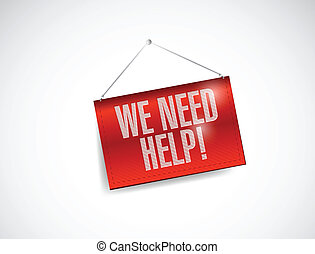 we need help banner illustration