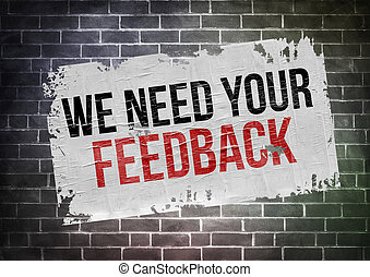 we need your feedback - poster concept