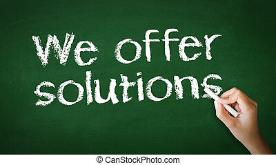 We offer Solutions Chalk Illustration - A person drawing and...