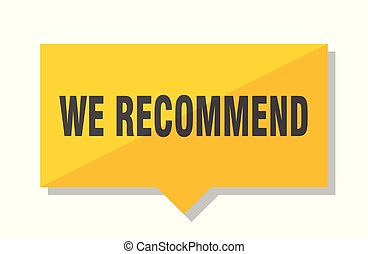 we recommend price tag - we recommend yellow square price...