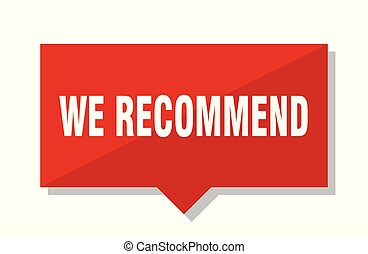 we recommend red tag - we recommend red square price tag