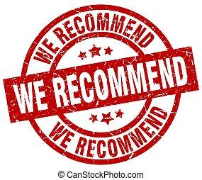 we recommend round red grunge stamp