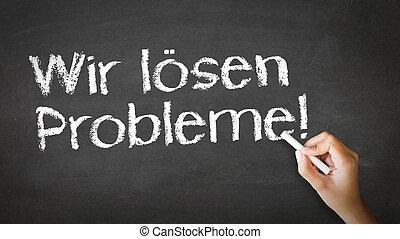 We Solve Problems Chalk Illustration