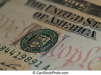 "We The People on $10 Bill 1 - Detail of the motto \""We the..."