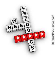 we want feedback crossword puzzle