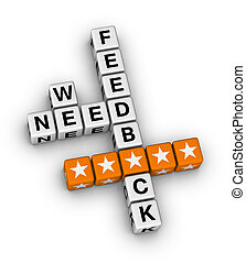 we want feedback crossword puzzle