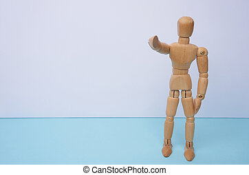 WE WANT YOU - Wooden mannequin, puppet, points his finger at you with copyspace. Can be used for business concept, hire or sign someone.