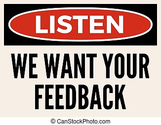 We want your feedback attention board