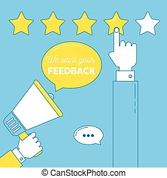 We want your feedback illustration