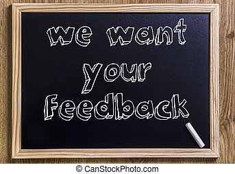We want your feedback - New chalkboard with 3D outlined text