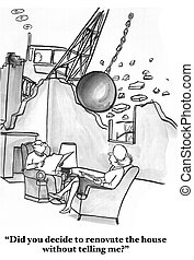 Weak Communication - Cartoon about a couple who communicate...