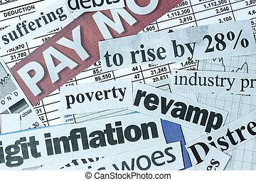 Weak economy - Concept image of stock market meltdown- with ...