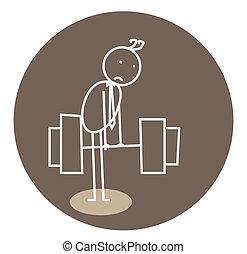 weak weightlifting doodle