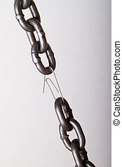 weakest link in a chain. concept of genuine software...