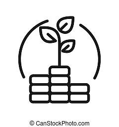 wealth accumulation vector illustration design