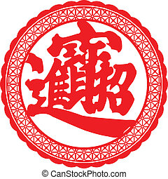 Wealth and prosperity in Chinese symbol.