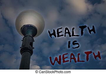 wealth., begriff, wesen, text, form, wert, nachricht, erleuchten, blauer himmel, ideen, schreibende, gesundheit, guten, geschaeftswelt, aufenthalt, reflections., wort, pfahl, essen, groß, wolkenhimmel, gesunde, licht, bewölkt