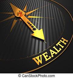 wealth., business, arrière-plan.