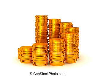 wealth:, croissance, pièces, piles