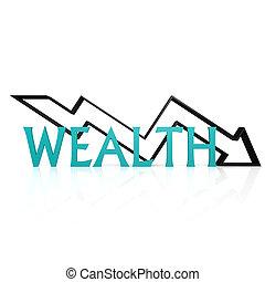Wealth down arrow