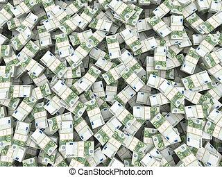 wealth., euro, fondo, pacchi