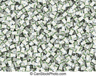 wealth., euro, plano de fondo, paquetes