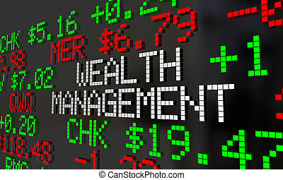 Wealth Management Financial Adviser Stock Market Investment...
