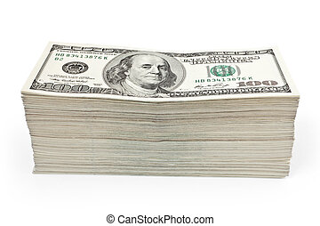 wealth money - lot of money isolated on white background