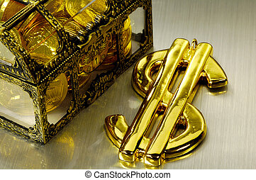 Wealth - Treasure Chest and Gold