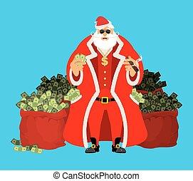 wealth., viejo, dinero., gainings., año, work., pocketful,...