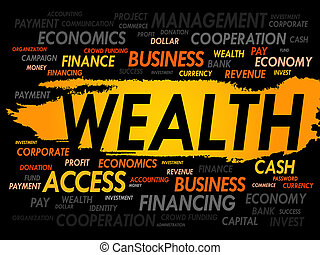 WEALTH word cloud