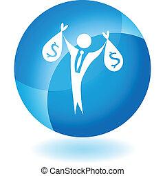Wealthy Businessman - Wealthy businessman web button...