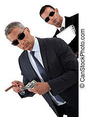 Wealthy businessmen