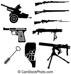 weapon 1 - set of weapon silhouettes