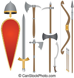 Weapon and armor of Old Russian sol - Set of the weapon and ...