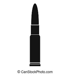 Weapon cartridge icon, simple style