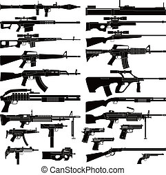 Weapon - Layered vector illustration of various weapons.