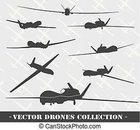 weapon., drone, conjunto