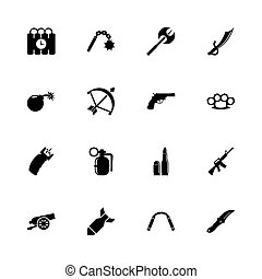 Weapon - Flat Vector Icons - Weapon icons - Expand to any...