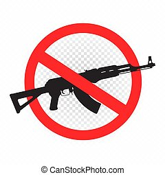 weapon forbidden sign icon