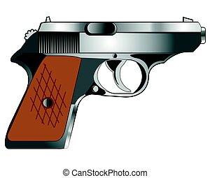 Weapon gun on white