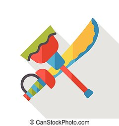 weapon sword flat icon