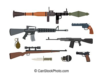 Weapons collection.