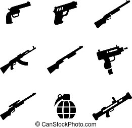 Weapons Icons - This image is a illustration and can be...