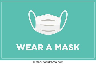 wear a mask banner