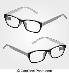 wearable, elektronika, bystrý, brýle, s, kamera, a,...