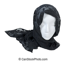 Wearing a Lacey Black Scarf - Wearing a black lacey scarf ...
