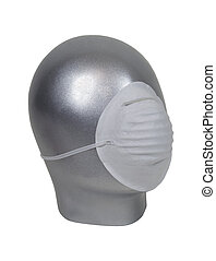 Wearing a medical dust mask